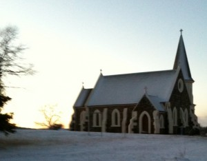 Adaminaby weather - church in snow