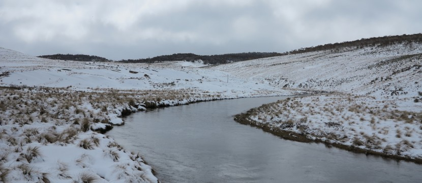 Eucumbene River upstream of Kiandra road bridge